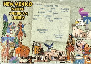NM tribes postcard