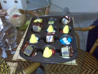 Easter muffin tin