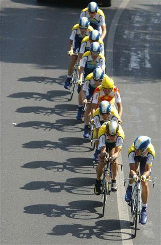 Team Astana time trial