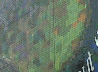 Mosaic mural close up
