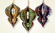 3D teardrop ornament