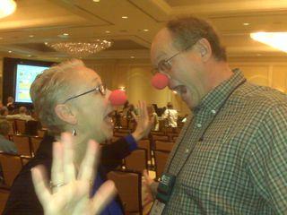 Clown Joyce and Steve