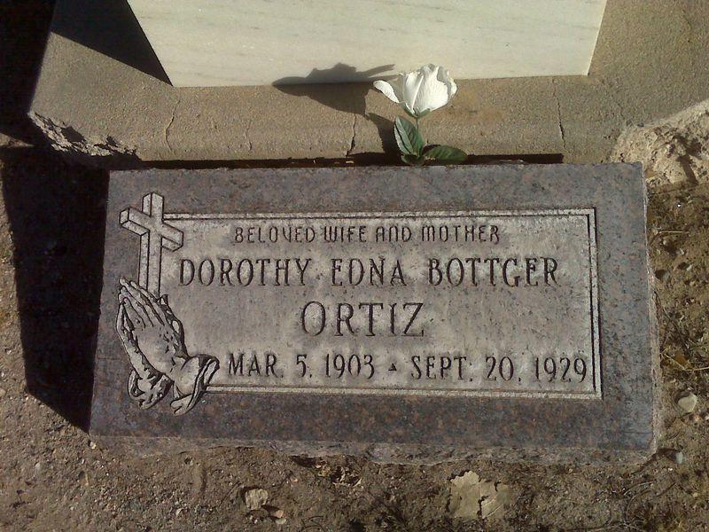 Dorothy Ortiz grave marker