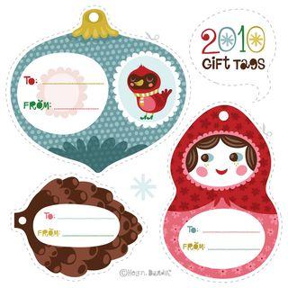 Christmas gift tags Helen Dardik