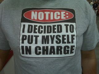 T shirt in charge