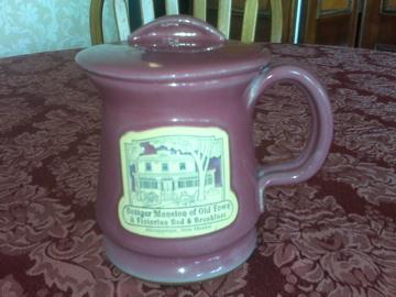 Old pink mug