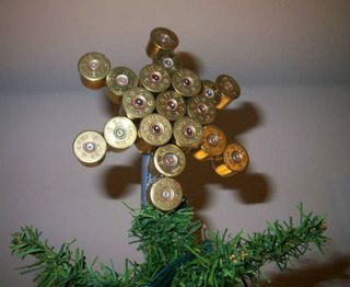 Shotgun shell xmas tree star