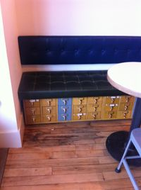Card catalog bench