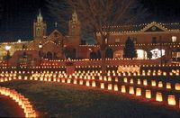 Luminarias San Felipe church