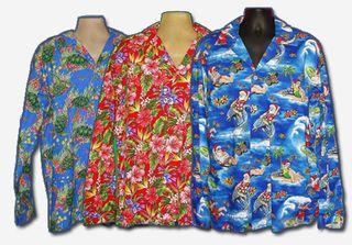 Long sleeved Hawaiian shirt