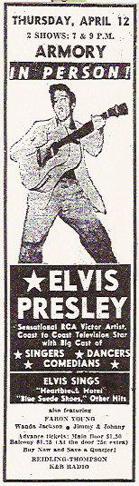 Elvis poster 1956