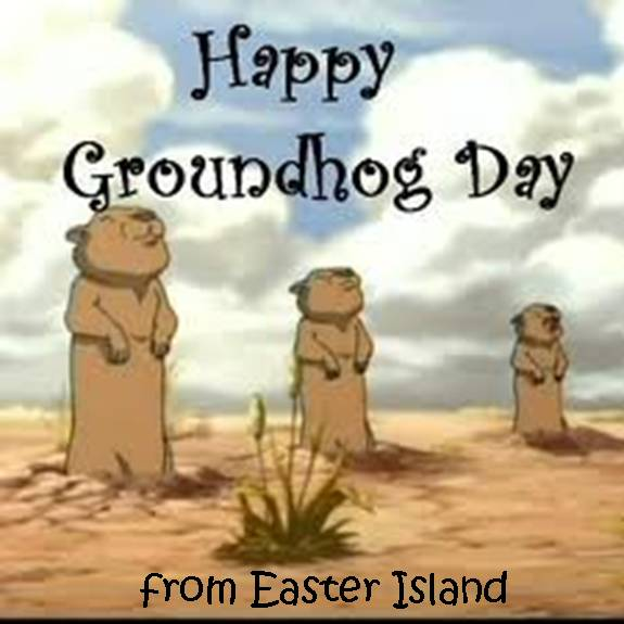 Groundhog day easter island