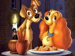 Lady and Tramp spaghetti