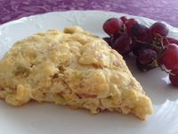 Green chile cheddar ham scone
