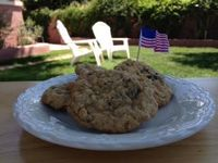 Red white and blueberry oatmeal cookies